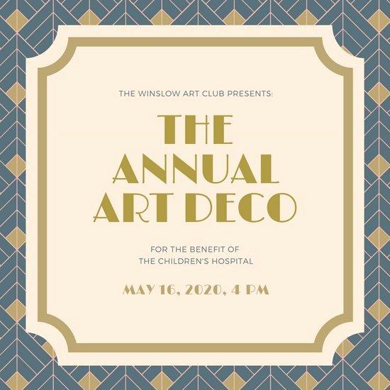 Free Art Deco Templates Awesome Customize 86 Art Deco Invitation Templates Online Canva