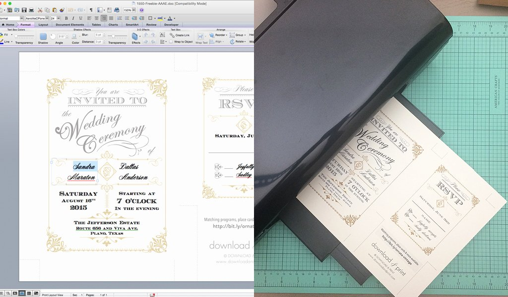 Free Art Deco Templates Awesome Free Template Vintage Wedding Invitation with Art Deco Band