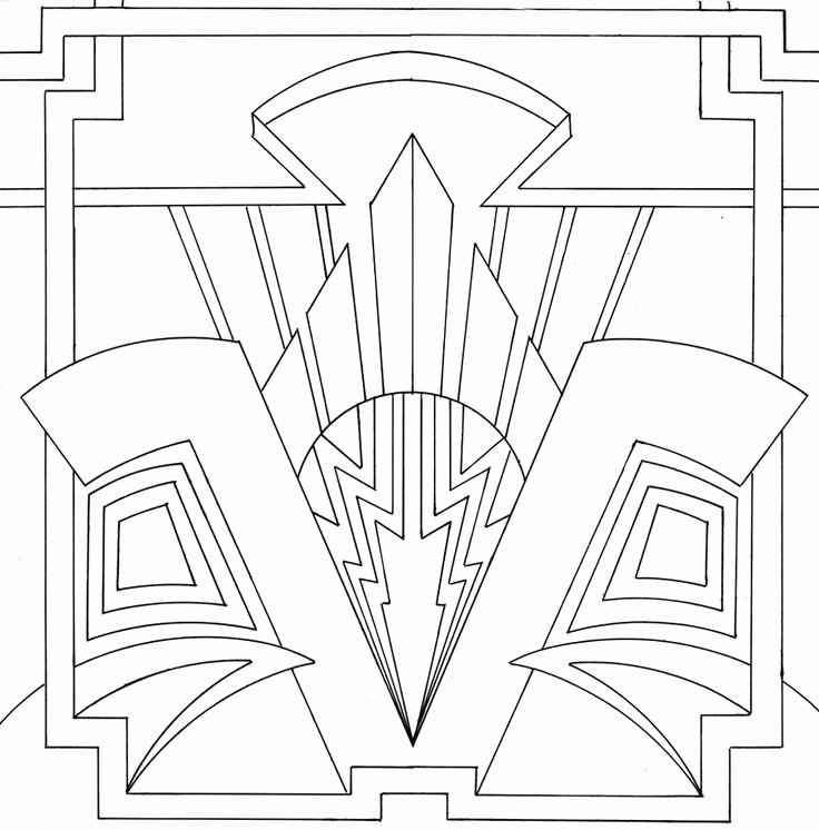 Free Art Deco Templates Beautiful Art Deco Coloring Page Lovely Stained Glass Pinterest