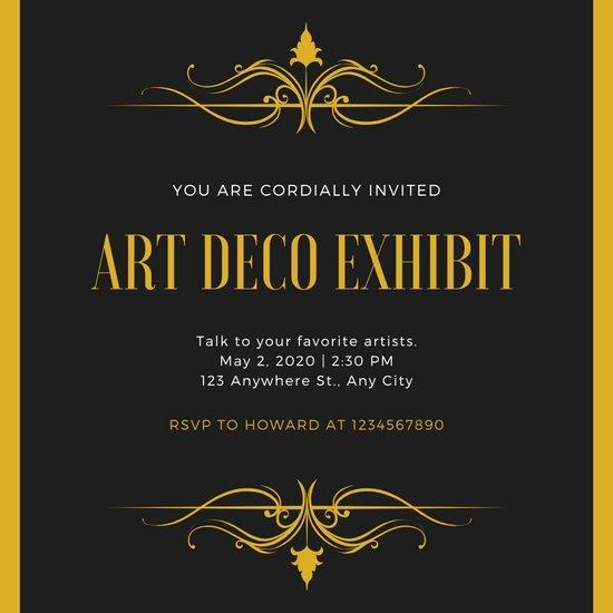 Free Art Deco Templates Best Of Customize 86 Art Deco Invitation Templates Online Canva
