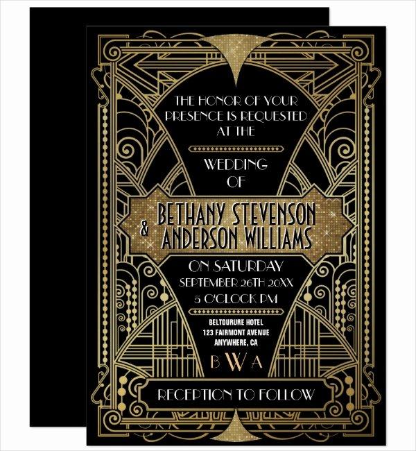 Free Art Deco Templates Elegant 14 Art Deco Invitation Designs & Templates Psd Ai Indesign