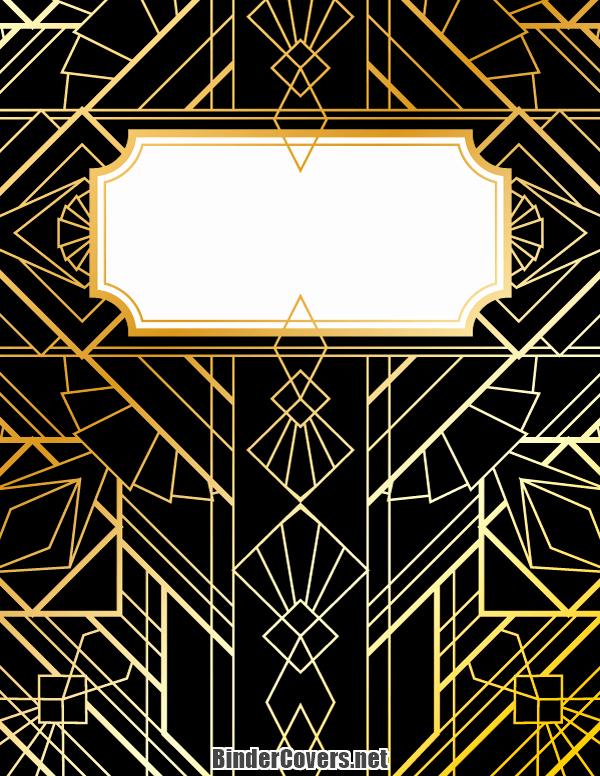 Free Art Deco Templates Elegant Printable Art Deco Binder Cover