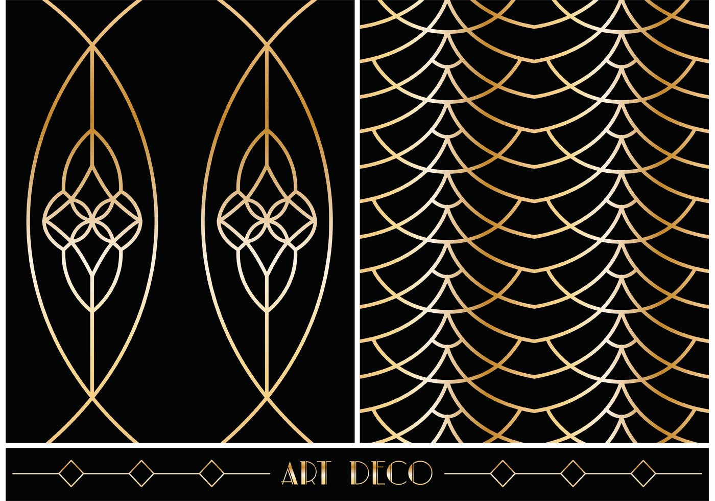 Free Art Deco Templates Luxury Art Deco Geometric Vector Patterns Download Free Vector Art Stock Graphics &