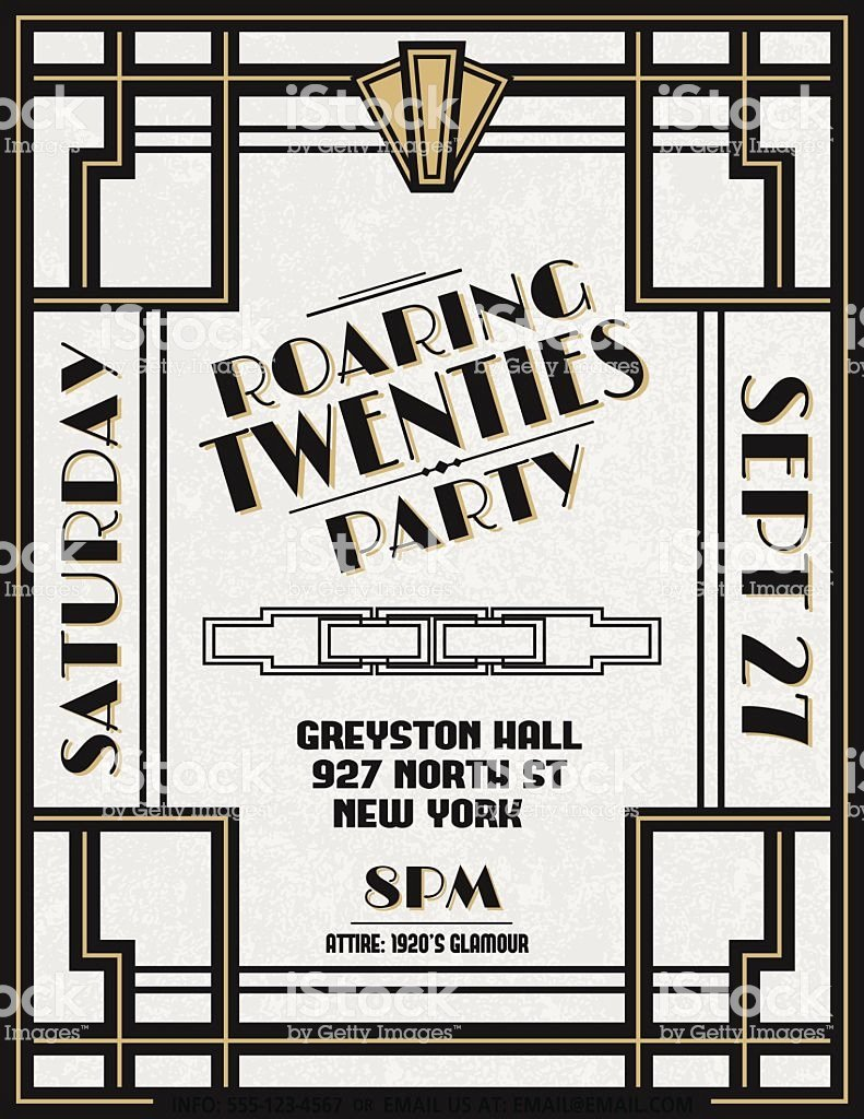 Free Art Deco Templates Unique Art Deco Party Invitation Template Stock Vector Art & More Of 1920 1929