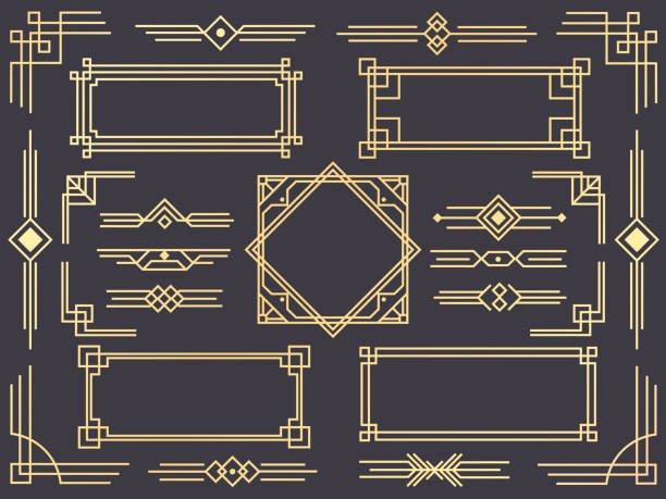 Free Art Deco Vector Awesome Royalty Free Art Deco Border Clip Art Vector & Illustrations istock
