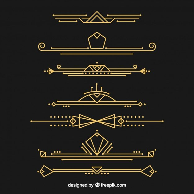 Free Art Deco Vector Beautiful Deco Vectors S and Psd Files