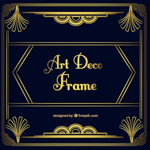Free Art Deco Vector Best Of Golden ornamental Frame In Art Deco Style Vector
