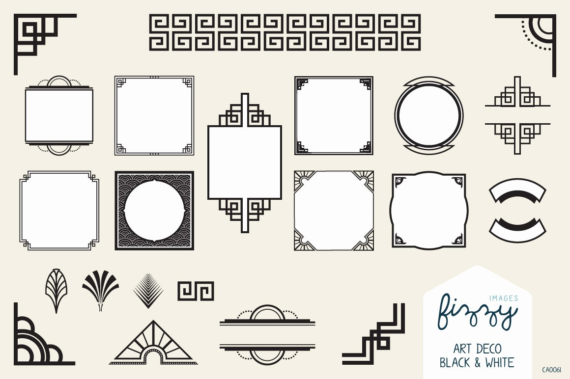 Free Art Deco Vector Lovely 40 Remarkable Art Deco Designs & Resources