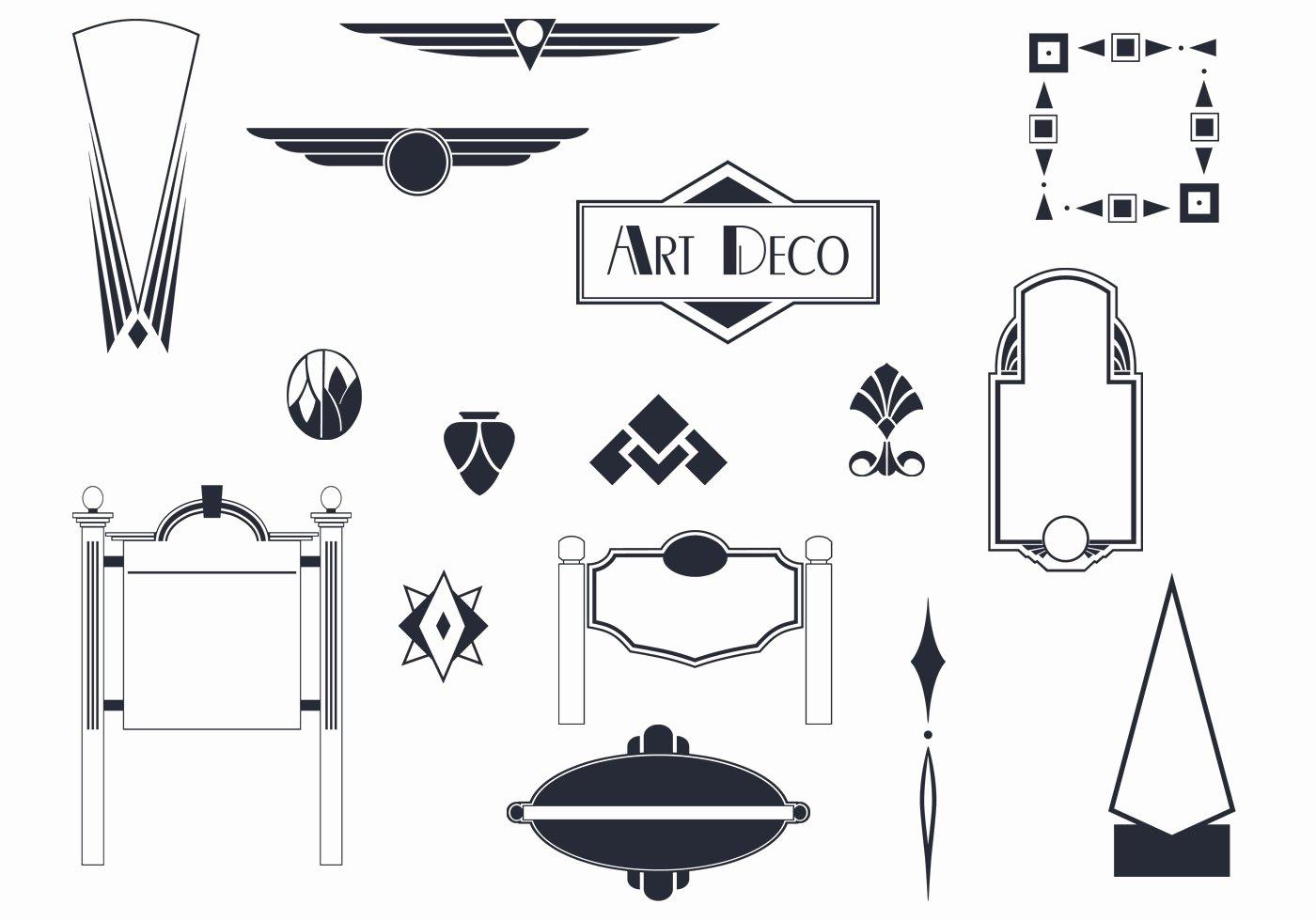 Free Art Deco Vector Lovely Art Deco Signs and ornaments Vectors Download Free Vectors Clipart Graphics & Vector Art