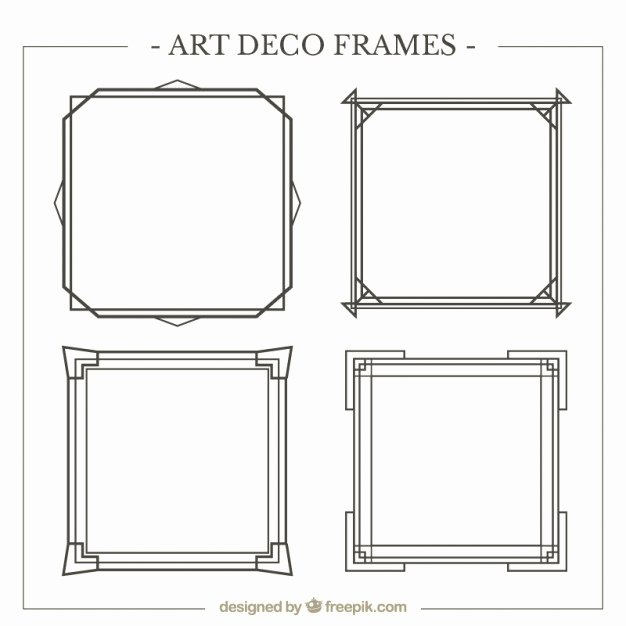 Free Art Deco Vector New Art Deco Frames Pack Vector