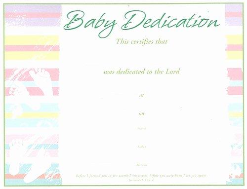 Free Baby Dedication Certificate Elegant Baby Dedication Certificate Pack Of 6 Green Embossed