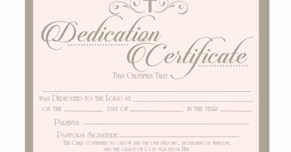 Free Baby Dedication Certificate Luxury Printable Baby Dedication Certificate Digital by Studiobparties …