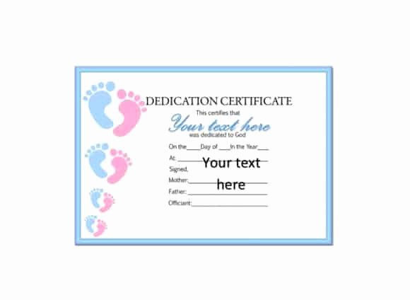 Free Baby Dedication Certificate New 50 Free Baby Dedication Certificate Templates Printable Templates