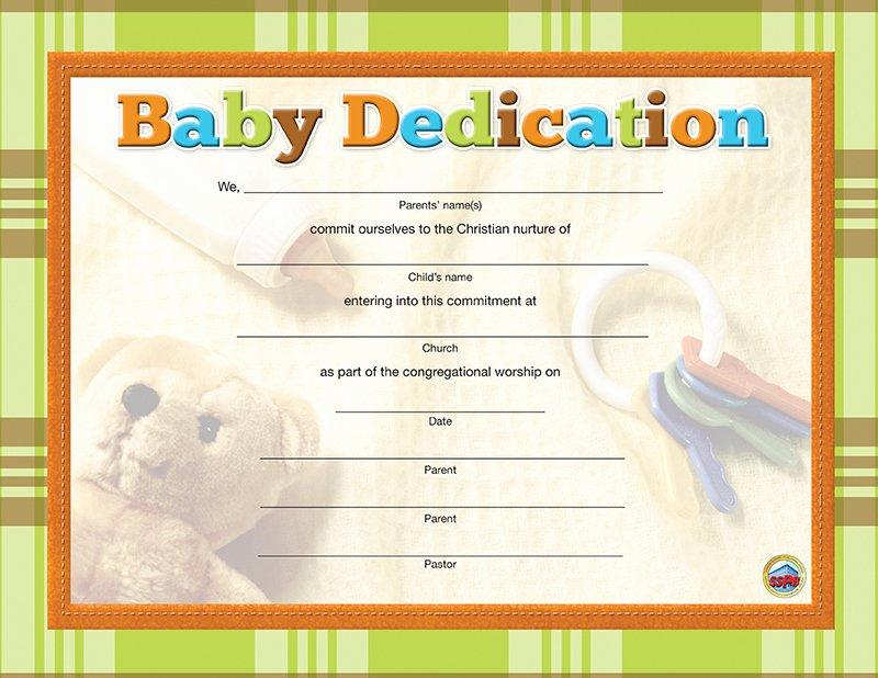 Free Baby Dedication Certificate Unique Baby Dedication Certificate