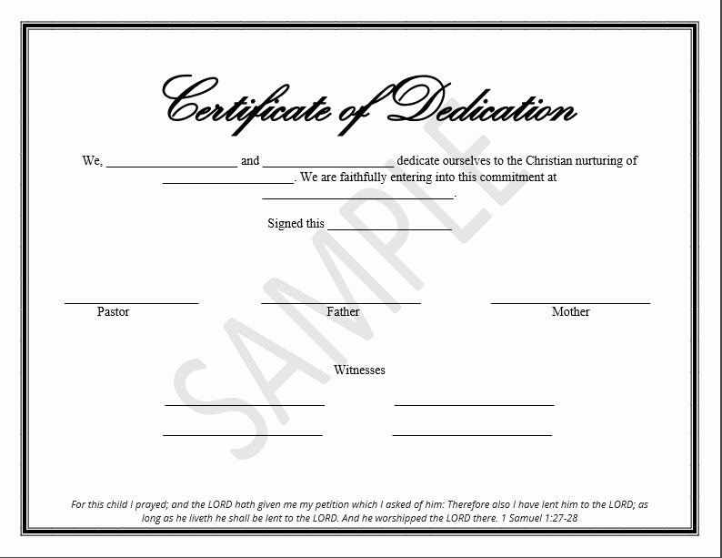Free Baby Dedication Certificate Unique Printable Child Dedication Certificate Templates the Disciplers