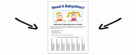 Free Babysitting Flyer Template Awesome Free Babysitting Flyer Template