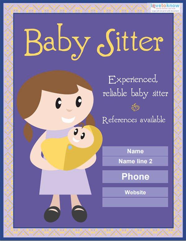 Free Babysitting Flyer Template Elegant 13 Fabulous Psd Baby Sitting Flyer Templates In Word Psd Eps Vector