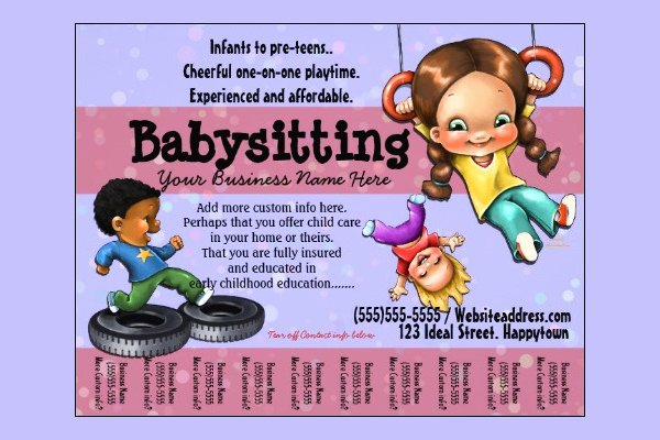 Free Babysitting Flyer Template Lovely 13 Fabulous Psd Baby Sitting Flyer Templates In Word Psd Eps Vector