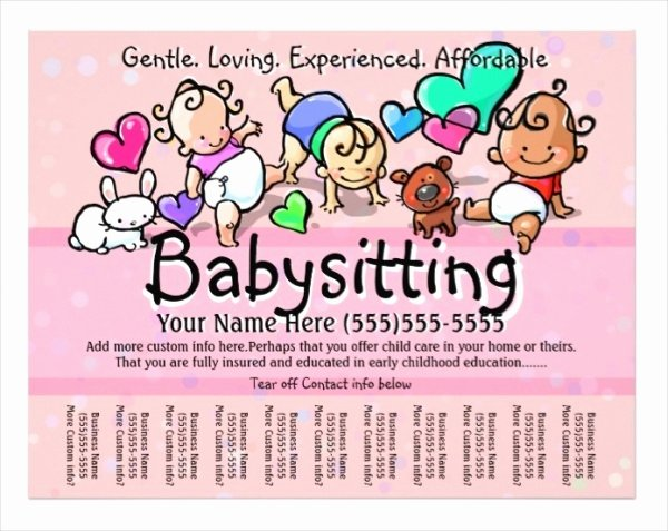 Free Babysitting Flyer Template New 17 Baby Sitting Flyer Designs Word Psd Ai Eps Vector