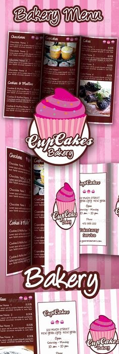 Free Bakery Menu Template Awesome Bakery Menu Template Free Downloads Pinterest
