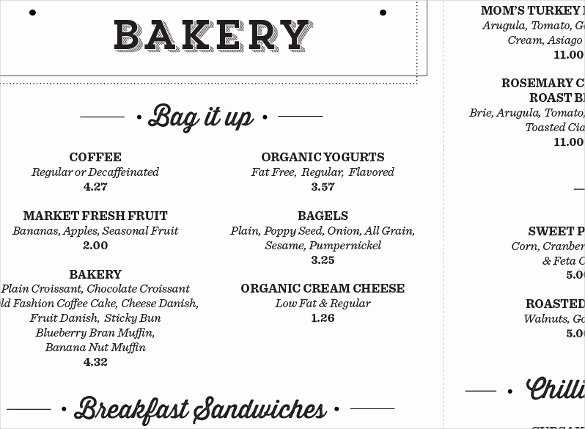 Free Bakery Menu Template Beautiful 29 Bakery Menu Templates Psd Ai Docs