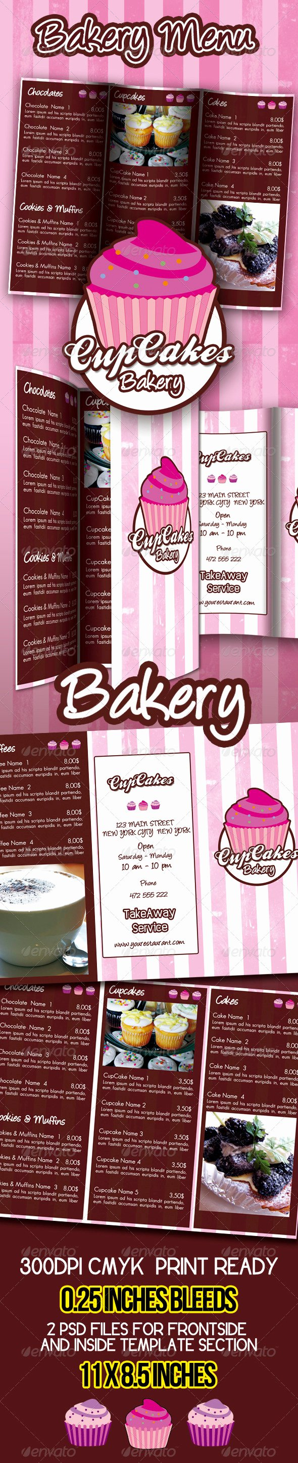 Free Bakery Menu Template Beautiful Bakery Menu Template Free