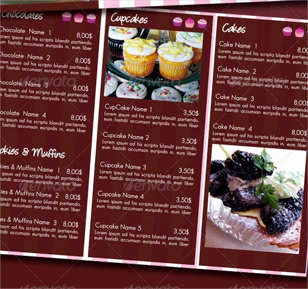 Free Bakery Menu Template Lovely 17 Sample Bakery Menu Templates Ai Pages Psd Doc