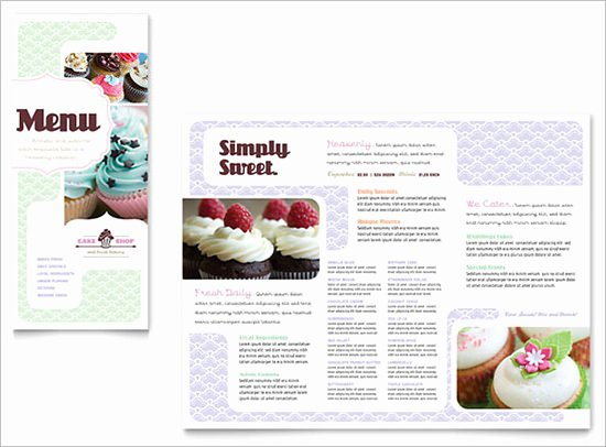 Free Bakery Menu Template New 30 Bakery Menu Templates Psd Pdf Eps Indesign