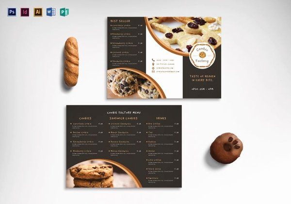 Free Bakery Menu Template Unique 30 Bakery Menu Templates Psd Pdf Eps Indesign