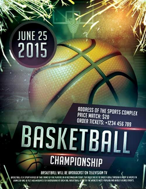 Free Basketball Flyer Template Fresh 20 attractive & Free Sports Flyer Templates