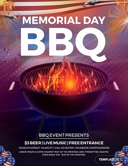 Free Bbq Flyer Template Awesome Free Employee Bbq Party Flyer Template Download 649