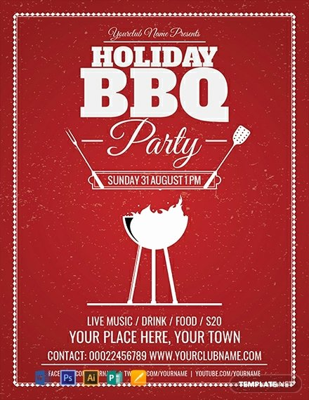 Free Bbq Flyer Template Awesome Free Holiday Bbq Flyer Template Word Psd