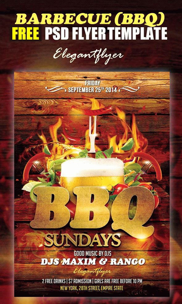Free Bbq Flyer Template Beautiful 20 Free Psd Barbeque Flyer Templates for the Best events