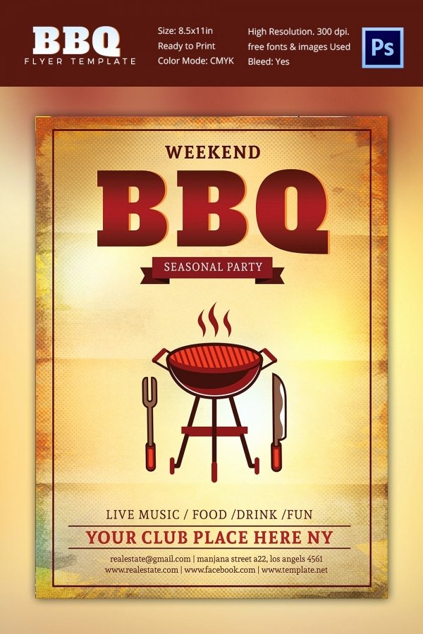 Free Bbq Flyer Template Beautiful 28 Bbq Flyer Templates Free Word Pdf Psd Eps