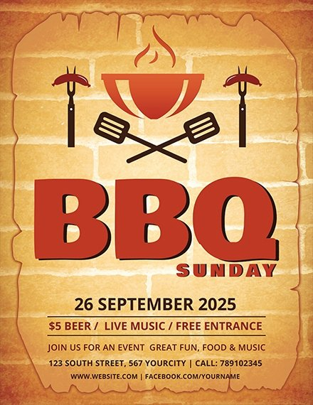 Free Bbq Flyer Template Best Of 21 Backyard Bbq Flyer Examples Templates Word Psd Ai