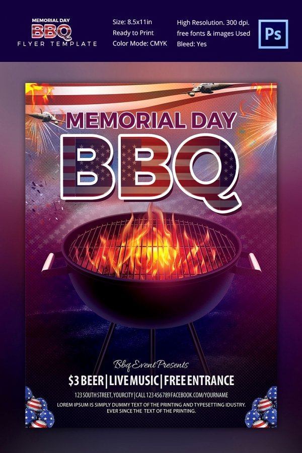 Free Bbq Flyer Template Fresh 25 Bbq Flyer Template Free Word Pdf Psd Eps