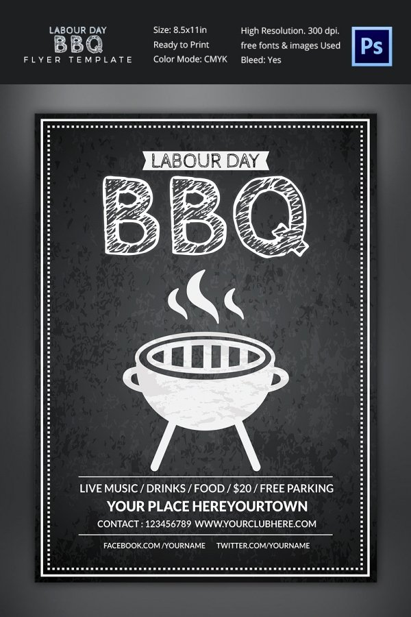 Free Bbq Flyer Template Lovely 25 Bbq Flyer Template Free Word Pdf Psd Eps