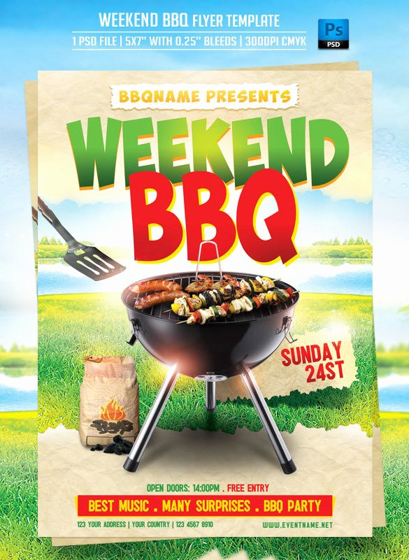 Free Bbq Flyer Template Luxury 20 Bbq Flyer Templates – Free Word Pdf Psd Eps