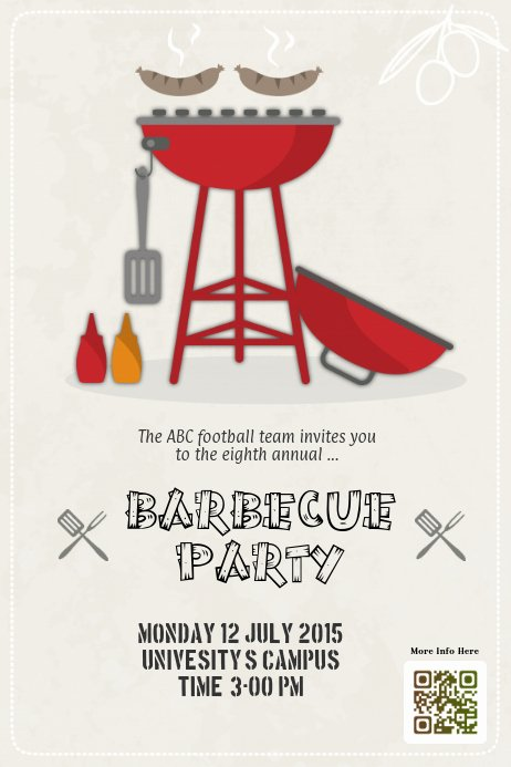 Free Bbq Flyer Template Luxury Barbecue Party Flyers Template