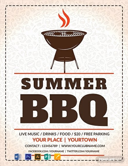 Free Bbq Flyer Template Luxury Free Summer Bbq Flyer Template Word Psd