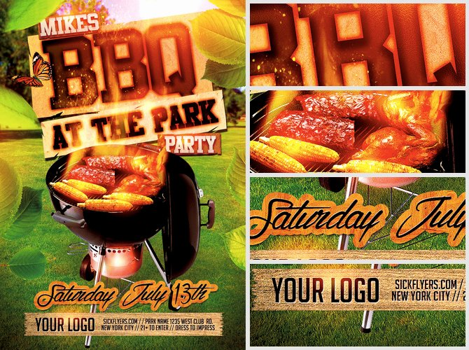 Free Bbq Flyer Template Luxury Summer Bbq Flyer Template Flyerheroes