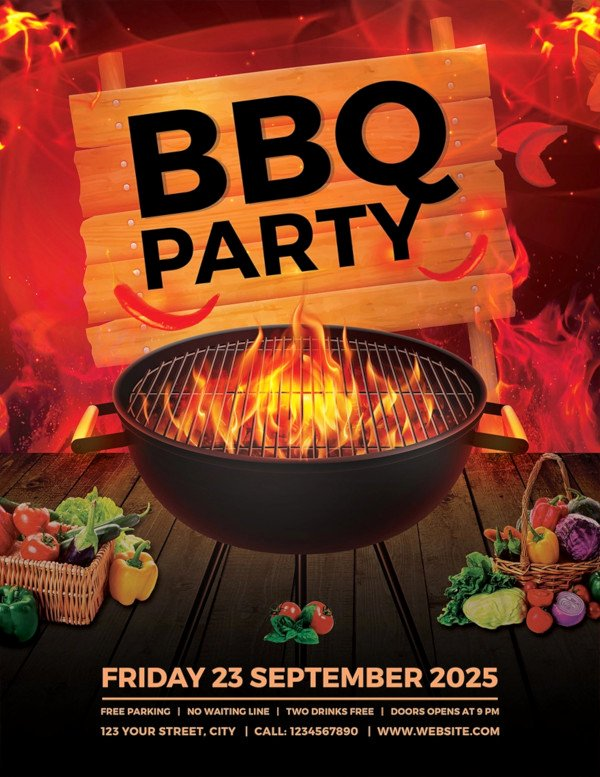 Free Bbq Flyer Template New 17 Bbq Party Flyer Designs Psd Ai Vector Eps