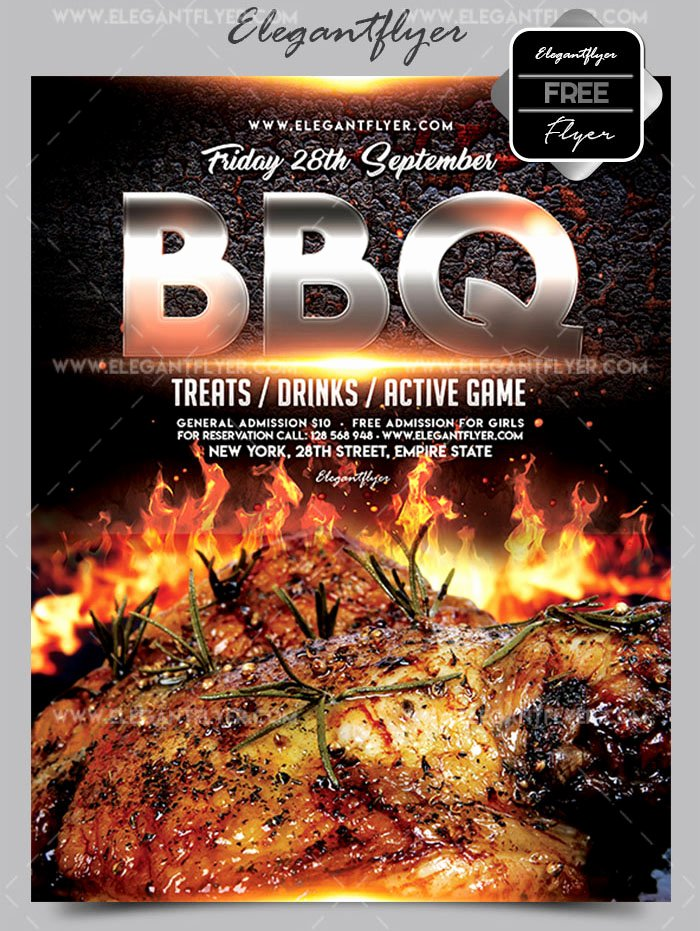 Free Bbq Flyer Template New 20 Free Psd Barbeque Flyer Templates for the Best events