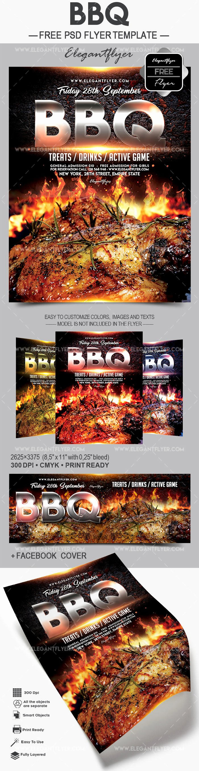 Free Bbq Flyer Template New Bbq – Free Flyer Psd Template – by Elegantflyer
