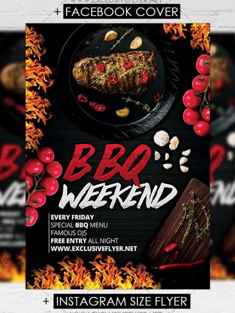 Free Bbq Flyer Template Unique Bbq Weekend – Premium A5 Flyer Template