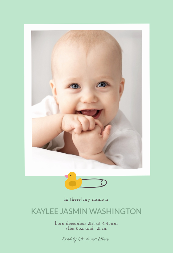 Free Birth Announcement Template Awesome Safety Pin Free Birth Announcement Template