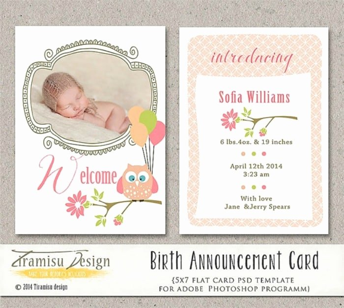 Free Birth Announcement Template Inspirational 5 Places to Find Downloadable Birth Announcement Templates