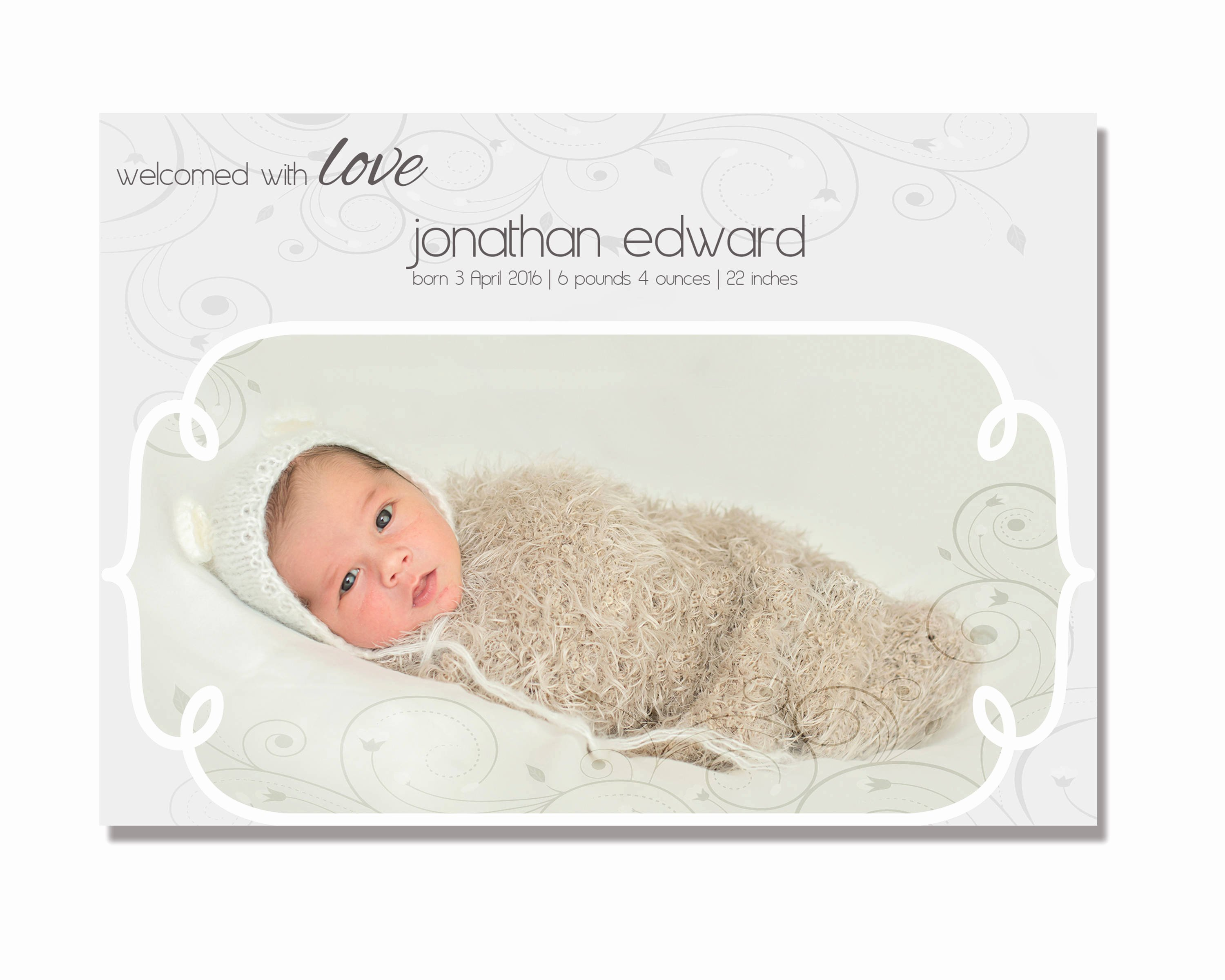 Free Birth Announcement Template Luxury Birth Announcement Template for Shop Instant