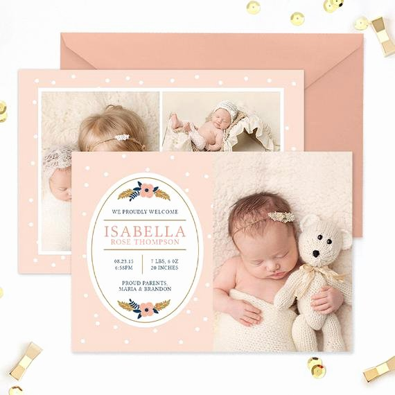 Free Birth Announcement Template Luxury Birth Announcement Template Newborn Announcement Template
