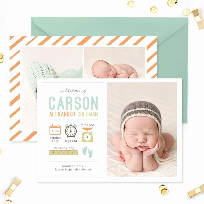Free Birth Announcement Template New Birth Announcement Template Tiny toes